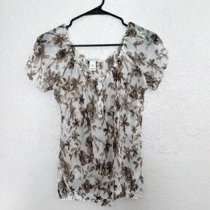 White Jouse Black Maret 100% silk Top